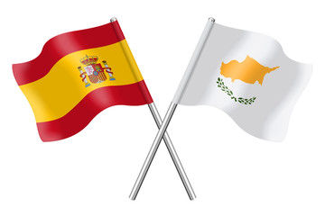 Flags: Spain and Cyprus