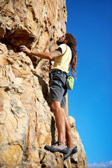 The courage of a Rock Climber