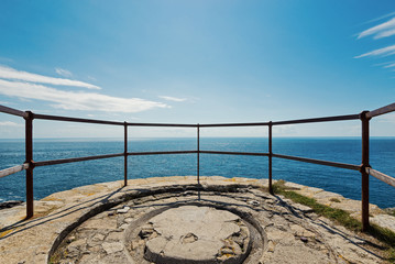 Panoramic terrace with a scenic view over the sea.