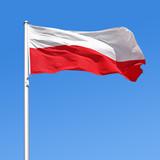 Wehende Flagge von Polen