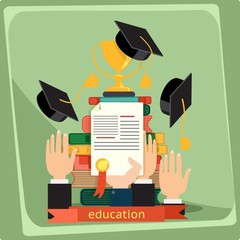 Education, vector illustration