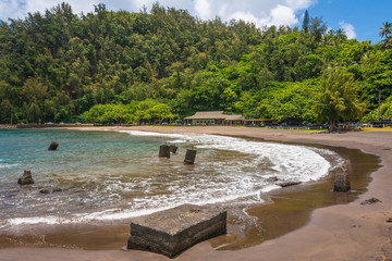 The beach of Hana, Maui