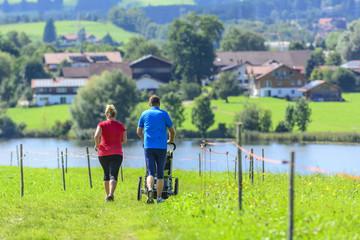 Laufen mit Familie