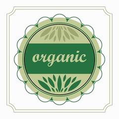 emblem organic product natural green in the circle