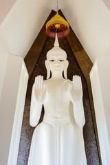 Beautiful White Buddha in Thailand.
