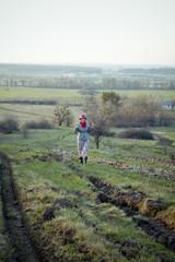 girl in village