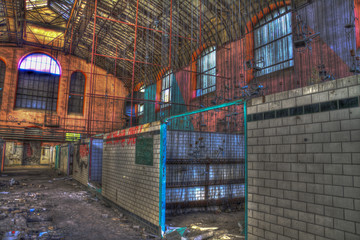 salle des pendus abandonné dans un batiment de la mine