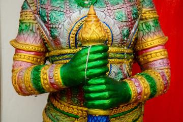 Hanuman statue The art form of Thailand.