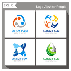 circle people logo collection vector eps 10