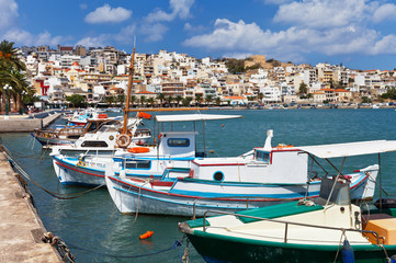 Quay in Sitia, Crete, Greece