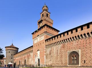 Milan Castle Close Day