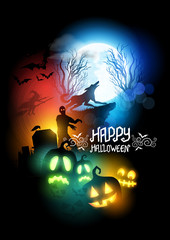 Horror Halloween Vector Illustration
