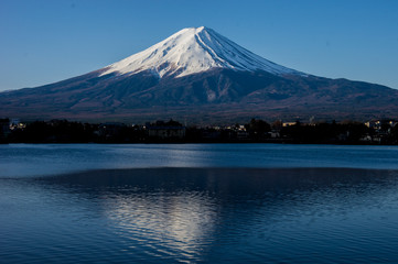 Mt.Fuji in lake
