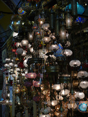 The Beautiful Glass Lamps of the Grand Bazaar, Istanbul