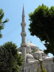 The Sultan Ahmed Blue Mosque as seen through a Park