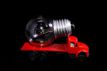 Red Truck Light Bulb