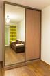 Bedroom with built in modern wardrobe