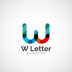 W letter logo, minimal line design