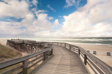 Holzbohlenweg am Kampener Strand auf sylt