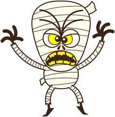 Angry Halloween mummy being scary