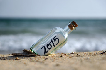 2015, bottle with a new message