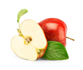 red apple isolate on white
