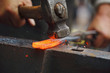 Forging hot iron - 71263417