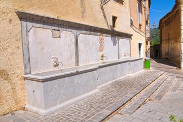 Monumental fountain. Morano Calabro. Calabria. Italy.