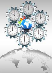 Die Zeit vergeht...weltweit, freigestellt