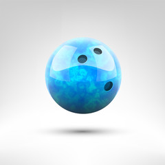 Isolated blue bowling ball vector illustration