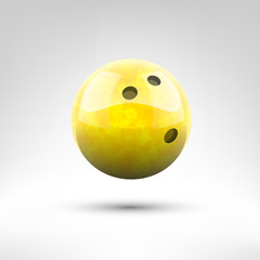 Isolated yellow bowling ball vector illustration