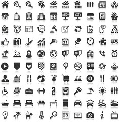 Shadow Iconset black Icons Real Estate Buildings Travel Holiday