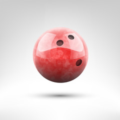 Isolated red bowling ball vector illustration