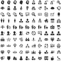 Shadow Iconset black Icons People Work Business