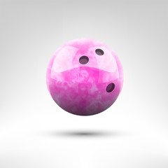 Isolated pink bowling ball vector illustration