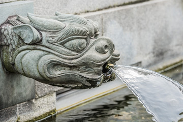 dragon fountain Chi Lin Nunnery Kowloon Hong Kong