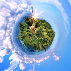 stunning green paradise circular landscape