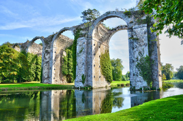 France, the picturesque aqueduct of Maintenon
