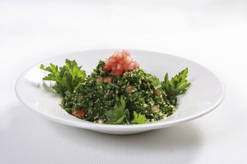 Tabbouleh salad with freah parsley and tomatoes