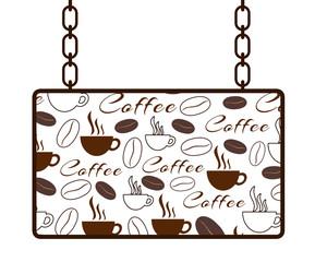 Coffee Texture Signboard