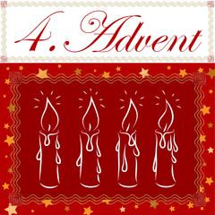 Kerze, 4. Advent, Weihnachten, Vorlage, Candle, xmas, 3D, vektor