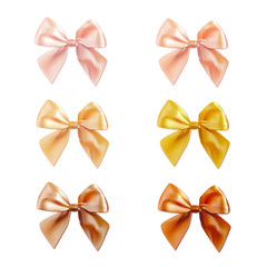 Vector set of satin bows