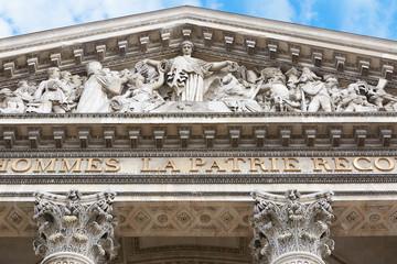 Pantheon facade in Paris