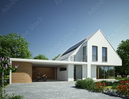Haus Zinkdach mit Carport
