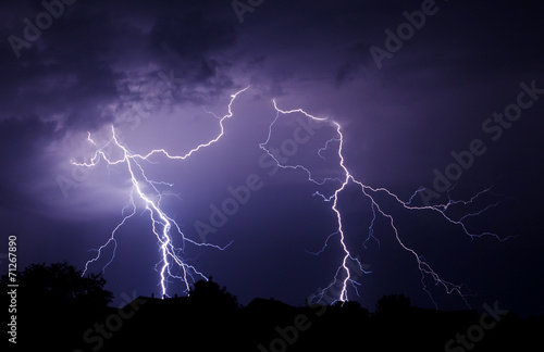 In de dag Onweer Lightning