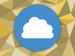 cloud icon on background with triangle pattern.