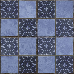 blue tiles background
