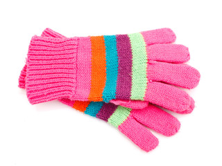 striped gloves
