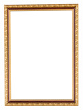 Fototapety golden frame on isolated white with clipping path.