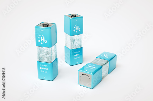 Leinwanddruck Bild Hydrogen energy concept